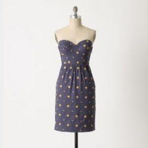Anthropologie Floreat Sun Dot Corset Dress