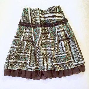 vintage Japanese floral skirt