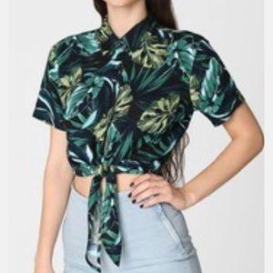 American Apparel tropical print top