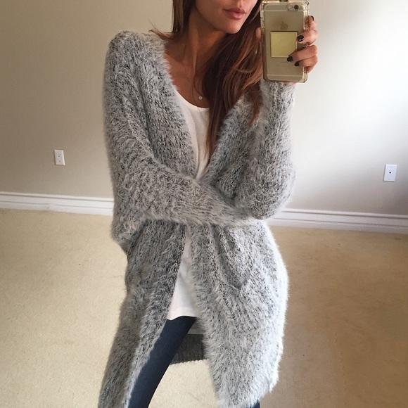 ✨Cozy Grey Fuzzy Pocket Cardigan One Size from Jacqueline 🌙's ...