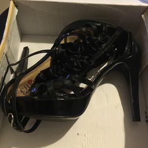 Black heels with Ruffles
