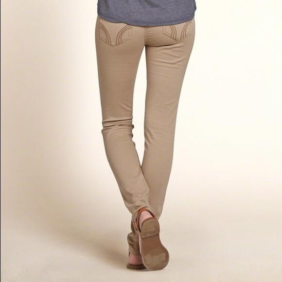 78% off Hollister Pants - NWOT Hollister Khaki Super Skinny Jeans
