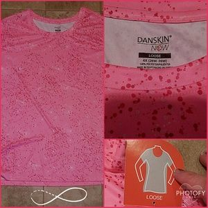 Danskin Now Tops - 4X Danskin Now NWT Bubblegum Pink with Dots