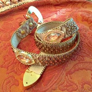 BB Simon Copper with oval Swarovski Crystals Belt