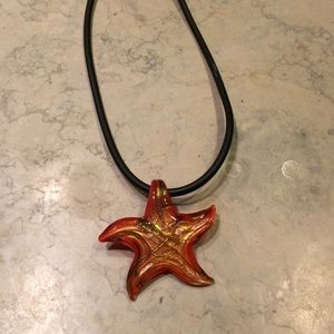 Gorgeous glass starfish necklace