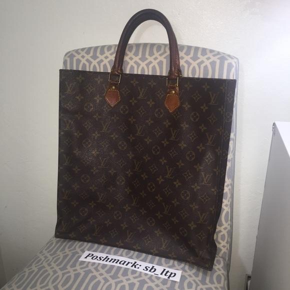 Authentic Louis Vuitton Vintage LV Sac Plat Tote