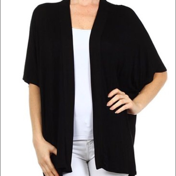 63% off Cotton On Sweaters - Black kimono cardigan from !taylor's ...