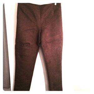 Pants - Custom-made Ultrasuede chocolate pants