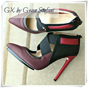 GX by Gwen Stefani Shoes - 👠GX by Gwen Stefani Aime booties, brown/black/red