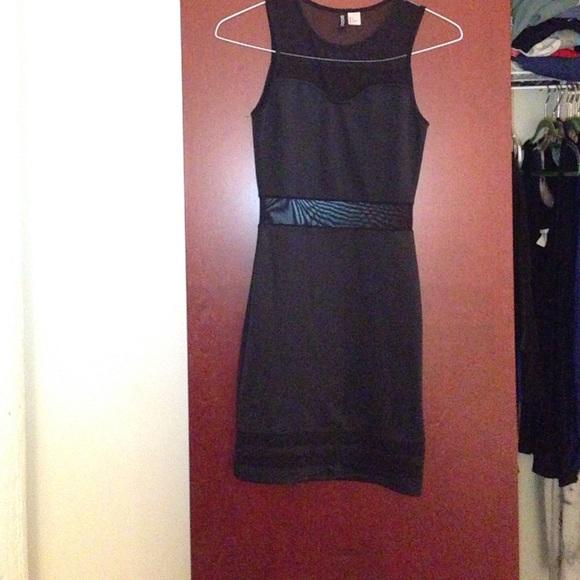 8393ea3a7d2a H M black mesh cutout bodycon dress sz. 4. H M. M 563975354e8d172113005309.  M 56397537620ff7587d005393