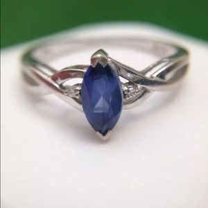 Real tanzanite & dimond ring