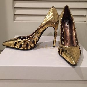 Jeffrey Campbell Metallic Pumps