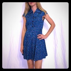 Marc by Marc Jacobs blue silk dress, size 4