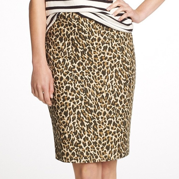 J. Crew Skirts - J. Crew No. 2 Pencil Skirt in Leopard