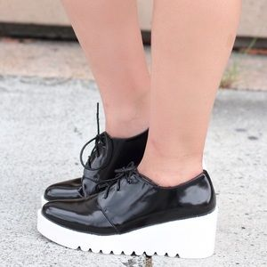 Forever 21 platform brogue shoes