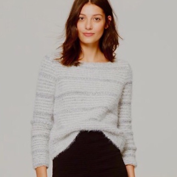 73% off LOFT Sweaters - Loft ✨ NEW Gray Fuzzy Sweater from Amy's ...