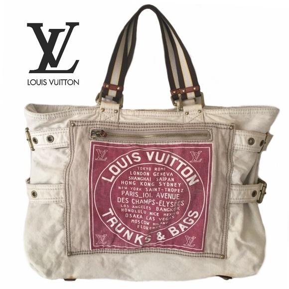d844050d2 Louis Vuitton Bags | Red Globe Shopper Canvas Gm Tote | Poshmark