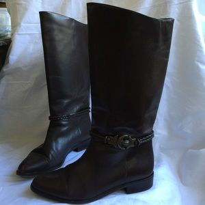 Seychelles Dark Brown Leather Boots size 7M
