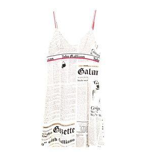 John Galliano Dresses & Skirts - John Galliano Newsprint Tunic Dress