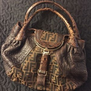 Authentic Fendi large spy bag - calf skin