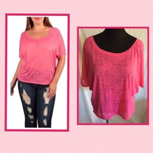 Ambiance Apparel Tops - Pink Top