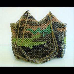 Erickson Beamon Handbags - RARE! ERICKSON BEAMON Beaded Camouflage Bag