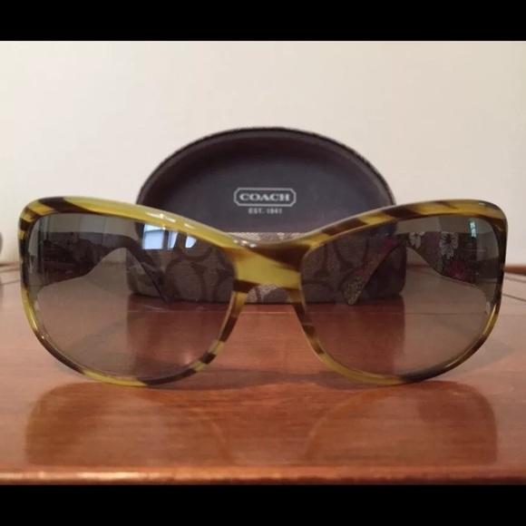669621888be83 Coach Accessories - Coach Sarah Sunglasses (S437) - Striped Tortoise