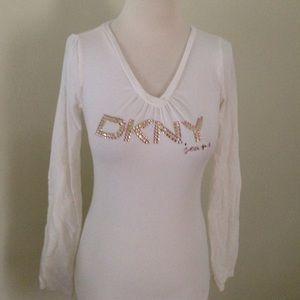 DKNY Tops - Long sleeves ivory tee