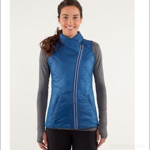 Lululemon Blue Reversible Down Vest