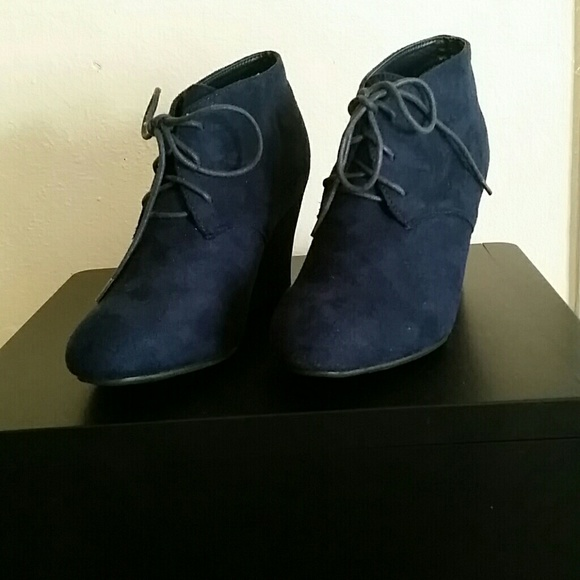 48b8894a71b Bonnibel Shoes - Navy Ollie Wedge ankle boot