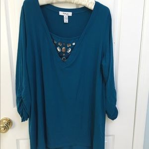 Party tunic in a gorgeous deep emerald green