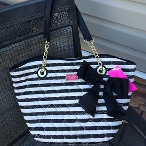 saleNWT Betsey Johnson stripe tote