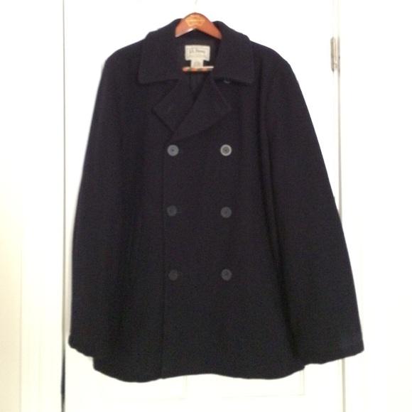 LL Bean Men's XL, 100% Wool Coat