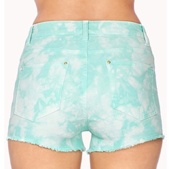 forever 21 tie dye high waisted shorts from s