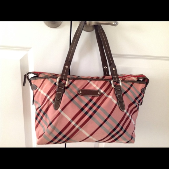 d0d83af86086 Burberry Handbags - Auth BURBERRY BLUE LABEL Nova Check Nylon bag