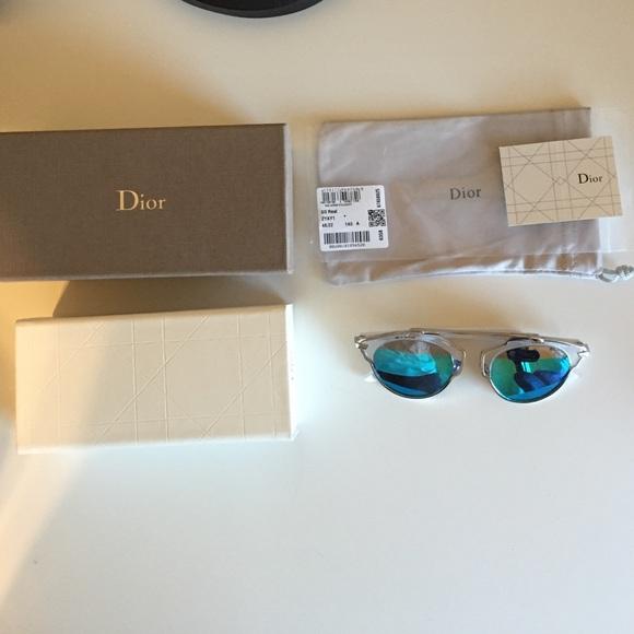 897d3d36d2e9 Dior Accessories - Dior So Real Mirrored Sunglasses White Blue