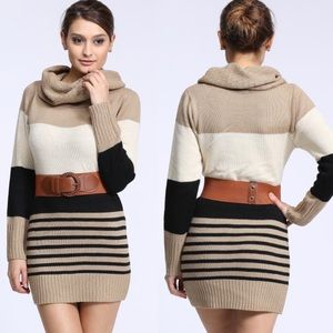 """Beauty"" Long Sleeve Sweater Tunic / Dress"