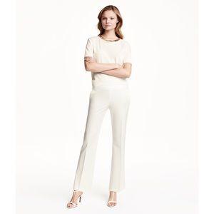 H&M // Flared Pants - Ivory