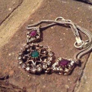 Jewelry - RUBY EMERALD TOPAZ BRACELETS