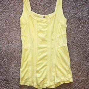 Free People -  Mellow Yellow Tank , Size : Small