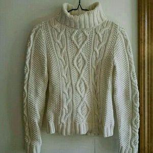 Ralph Lauren Cambridge Cable Turtleneck Sweater