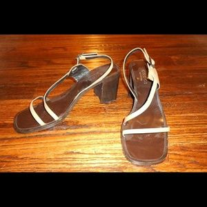 Authentic GUCCI chunky Heel Sandal