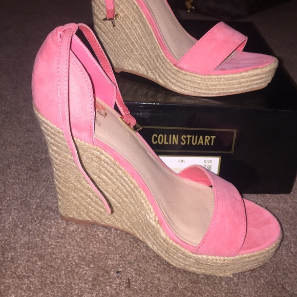 Colin Stuart Shoes  Coral Platform Wedges  Poshmark-3172