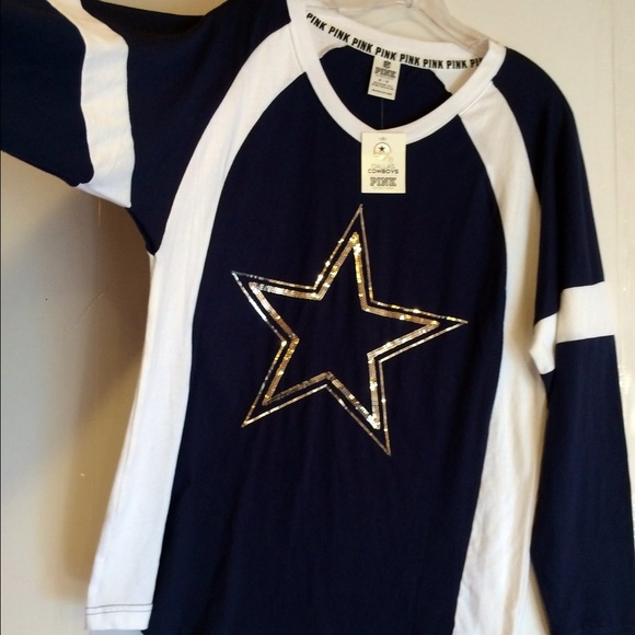 9c2bffae73f ... PINK Victorias Secret Sweaters - SOLD NWOT VS PINK BLING Dallas Cowboys  Crew Top ...