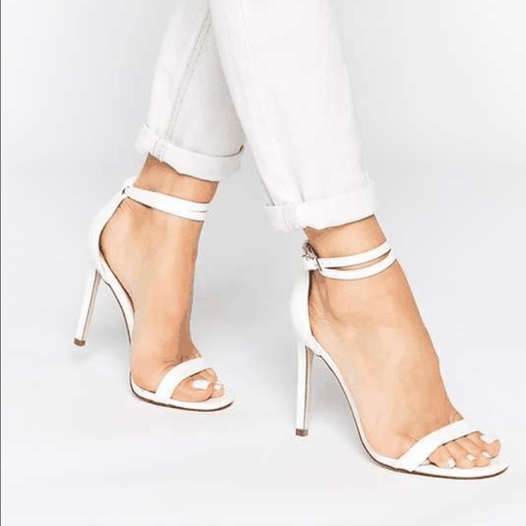 37e343a93fa1 ASOS Shoes - WHITE STRAPPY HEEL SANDALS
