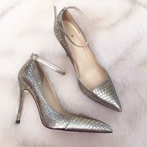 kate spade Shoes - New Metallic Gold Croc Pointed Toe Pumps