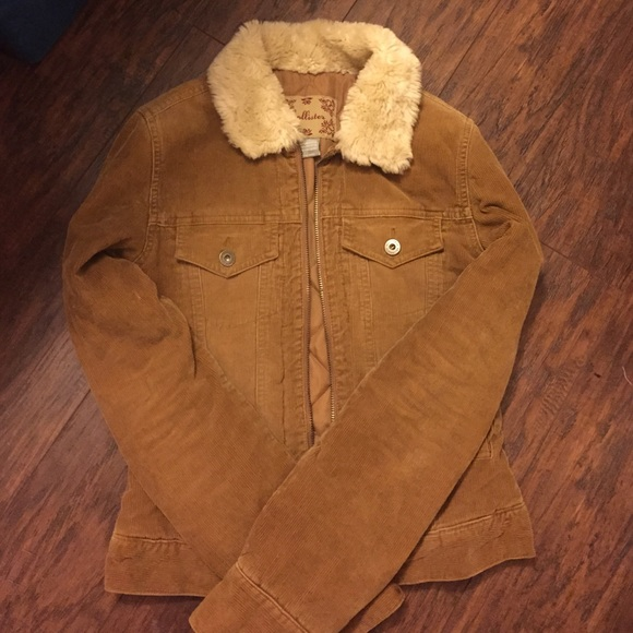 Hollister Jackets Coats Corduroy Jacket With Faux Fur Collar Xs