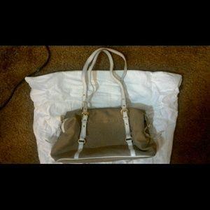 Cognac colored Prada bag with purse case