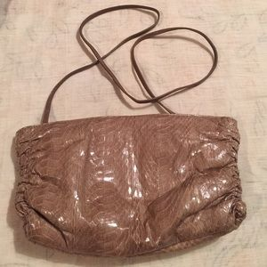 NWOT VINTAGE Leather Faux Snakeskin Crossbody