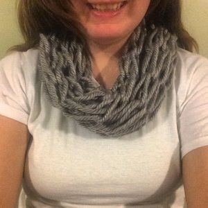 Gray scarf!